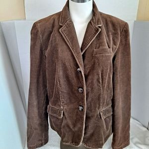 J Crew Corduroy Jacket Classic Leather Buttons